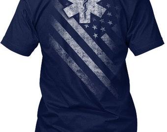 Star Of Life Flag Hanes Tagless Tee Tshirt