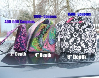 """Coupon Organizer Holder 6""""  Deep Mega Deluxe - Choose your own fabric"""