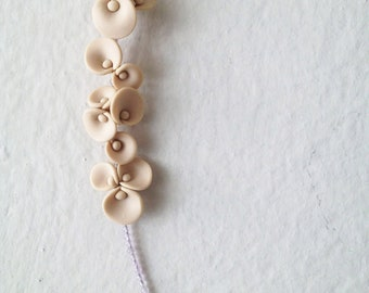 modern romantic flower necklace - minimal avant garde jewellry - nO.196 ''calla lilies between amethyst''