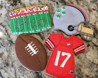 Football Cookies- Super Bowl Cookies- College Football Cookies- NFL Cookies