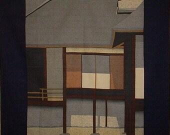 Masao Ido 'Katsura Rikyu' Furoshiki Japanese Fabric Cotton 105cm w/Free Insured Shipping