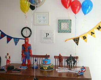Superhero Banner, Super Hero Birthday Banner, Superheroes Birthday Party , Birthday party decorations, Kids bedroom decor, Super Hero Party