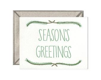 Seasons Greetings letterpress card