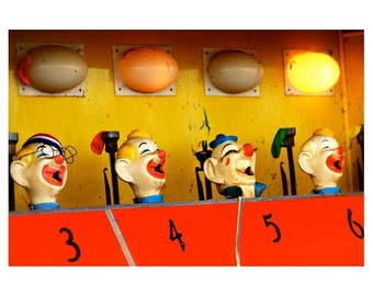 3, 4, 5, 6 coney island clowns (5 x 7 photo print)