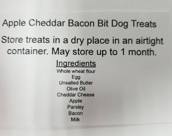 Apple Cheddar Bacon Bit Dog Treats