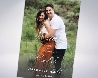 Save The Dates | Postcards or Announcements with Envelopes | Photograph Save the Date | Engagement Announcement | Printable Option Available