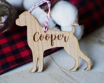 Custom Dog Christmas Ornaments   Choose Your Breed   Holiday Decor   Laser Cut   Laser Engraved   Christmas Gift   Dog Owner Gift