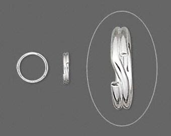 Sterling Silver Split Ring - 7 mm - 50 PCS - Split rings for jewelry design and repair - .925 Sterling Silver Split Rings