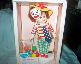 "Vintage 1988 Vogue Doll, Ginny, Clowning Around Clown: #72640, w/ Stand, 8"""