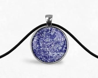 Southern Star Map Necklace   Celestial Jewelry Zodiac Necklace Zodiac Jewelry Pendant Necklace Constellation Jewelry Astrology Boho Necklace