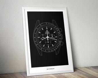 Omega Speedmaster Professional Print