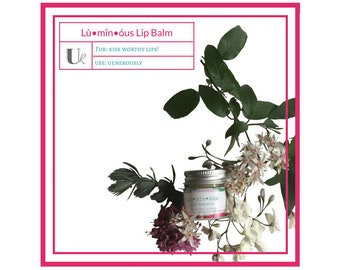 Lù•mîn•óus Lip Hydrator - 0.5 oz, Natural Lip Balm, Coconut Oil, Hydrating Lip Balm, Moisturizing Lip Treatment, Dry Lips Treatment, Spa