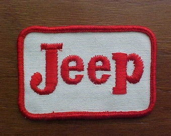 1960s 1970s Vintage Red AMC Jeep 4x4 Truck Patch New Old Stock Nice Condition Scarce to Find Logo American Motors Logo