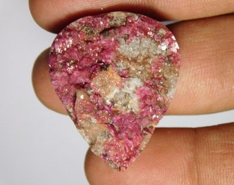 Beautiful pink cobalto calcite Druzy Cabochons,Gemstone,Loose stone Top Quality handmade Cabochons 100%Natural Loose stone 52cts.(33X26)mm.