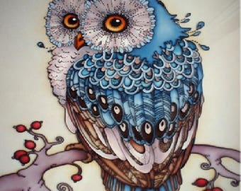 Diamond Embroidery Kit full - OWL - Art Collection