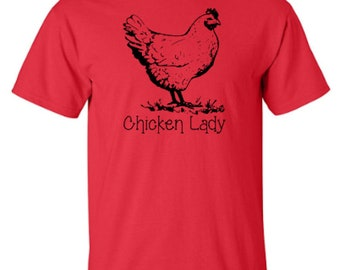 Chicken Lady - Farm Animals - Adult Unisex Tshirt