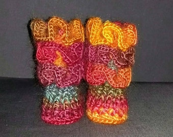 Fiesta Ruffled Baby Booties - Size 0-3 months
