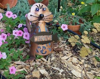Yard Art - Grumpy Cat - Solar