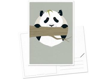 Postcard - Panda   children - nursery   A6 - 5.8 x 4.1 inches