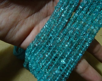 3.5to 4 mm Eye Clean  AAA+ Blue Apatite Faceted Rondelle Full 13 inch strand-Best price