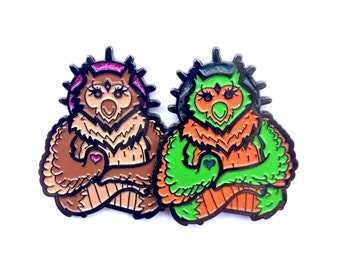 limited edition  Spirit owl soft enamel double posted le 40 Hatpin 2-pack.