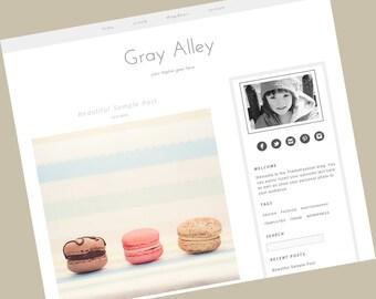 Responsive Wordpress Theme - Gray Alley