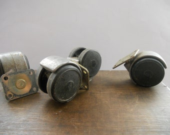Vintage Soviet Metal Wheels Furniture wheels Set of 4 casters Furniture Supplies Steampunk Industrial