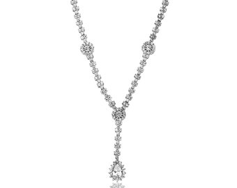 Silver Drop Necklace - IJ1-1557
