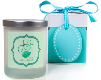 Tranquility Natural  Soy Candle with Essential Oils,  eco friendly, small 8 oz (227 grams)