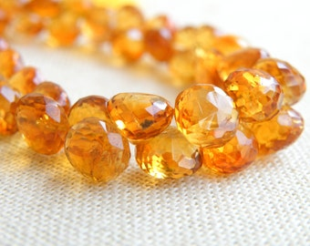 Madeira Citrine Gemstone Faceted Onion Briolette 6 to 6.5mm 29 beads