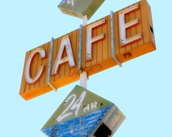 Retro Neon Sign Vintage Neon Sign Retro Kitchen Decor Gastons Cafe Retro Cafe Sign Vintage Cafe Sign Retro Kitchen Wall Art Large Wall Art