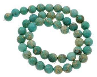 10 Pieces 8mm Impression Jasper Beads