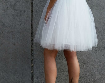 "Women Tulle Skirt, Knee length Tutu Skirt, Princess Skirt,  Wedding Skirt - – ""Choose to be me'/ EXPRESS SHIPPING / MD 10083"