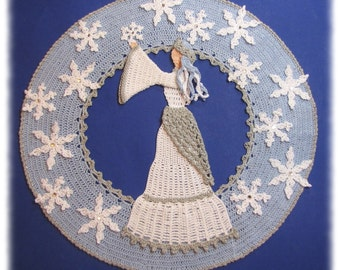 PDf Crochet Pattern- Snow Queen Doily