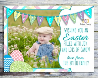 Baby's First Easter Photo Card, Printable Easter Card, Happy Easter Card, Easter Printable, Photo Card Printable, Printable Easter Card