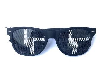 disco biscuits black logo camp bisco festival Graphic Wayfarer Sunglasses