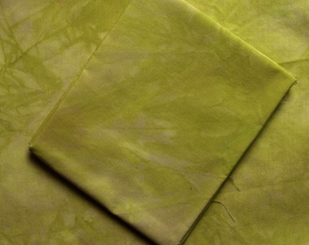 Chartreuse Green Hand-Dyed Quilting Cotton Fat Quarter