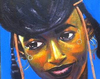 Maiden smile Acrylic on canvas 36' x 36'