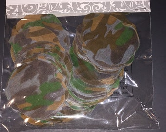 Camouflage polyester Rose Petals -- 200 pieces -- weddings