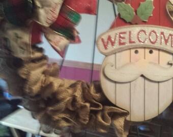Cute simple burlap wreath