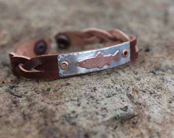 Men's Trout Bracelet, Fishing jewelry, Fishing Gift