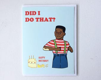 Steve Urkel Birthday card - Family Matters Card, 90s gift, tv show card