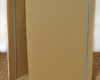 """Handbound Sketchbook - 6x8"""" landscape - softcover sketchbook"""