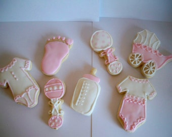 Baby Girl Sugar Cookies