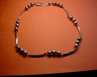 Necklace Sterling Mexico Artist Signed NICE <># ETB3378