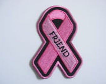Pink Ribbon Breast Cancer Patch FRIEND