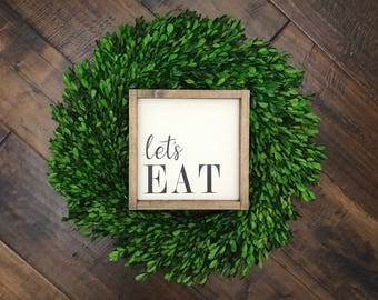 Lets Eat Sign   Wood Sign   Kitchen Sign   Kitchen Decor   Farmhouse Kitchen   Farmhouse Sign   Farmhouse Style   Fixer Upper Style   Family
