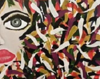 Mardi Gras - Acrylic Painting - ready to ship!