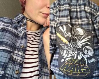 Star Wars Luke Skywalker Darth Vader Flannel