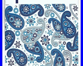 ON SALE Shades of Blue & White Paisley Self Adhesive Poly Envelope Mailers 6 x 9 Inch